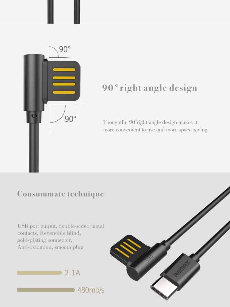 REMAX Rayen Series charging data Type-C USB3.0 Cable