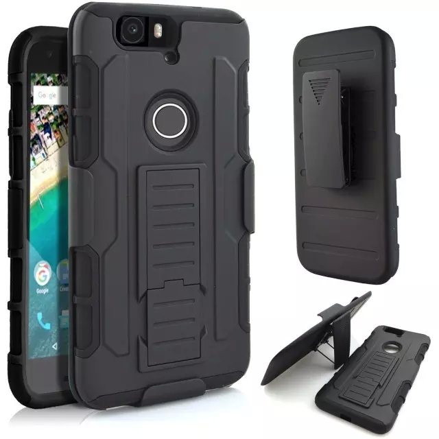 Armor Hybrid Triple Full Capa Military 3in1 Defender Combo Case For huawei nexus 6p Stand Kickstand Cover