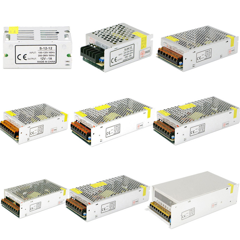 Power Supply DC 12V 1A 2A 3A 5A 10A 12A 15A 20A 30A 40A Lighting Transformer For LED Strip Light Switching Power Adapter Driver