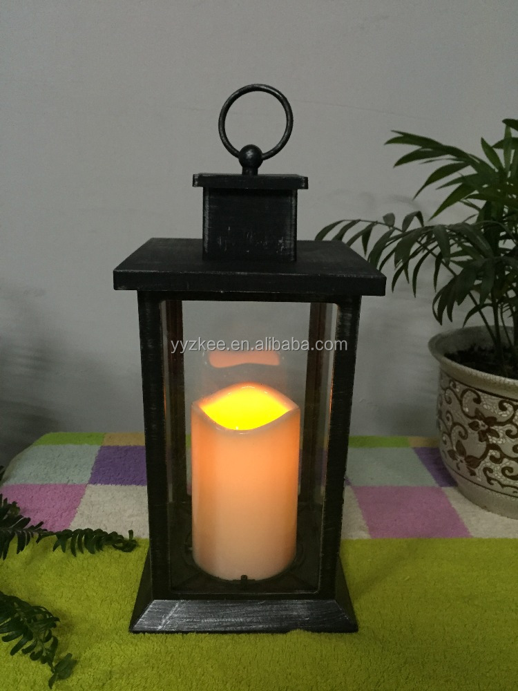 new plastic candle lantern
