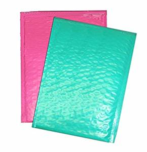 "Beauticom Assorted PINK & TEAL (30 Pieces) #0, 6x10 Self-Seal Poly Bubble Mailer 6.25"" x 9 1/4"""