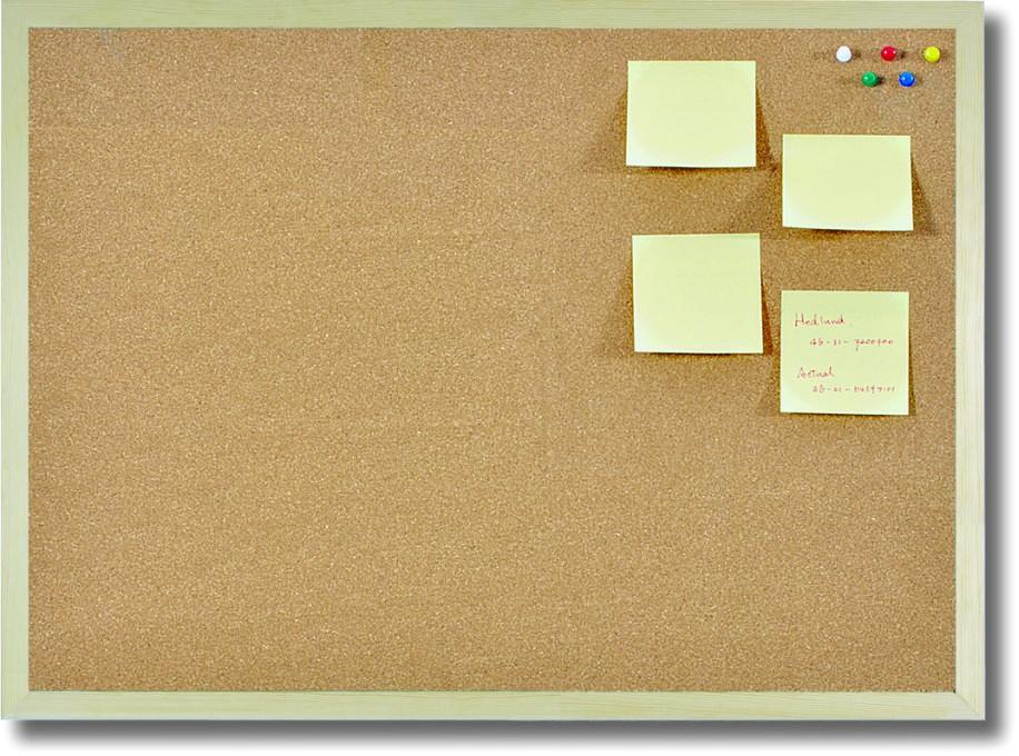 cork pin board bulletin board with wooden frame