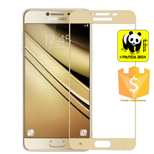 IPANDA BOX D018 Galaxy C7 Screen Protector, fengus Premium Tempered Glass Screen Protector Film for Samsung Galaxy C7 C7000