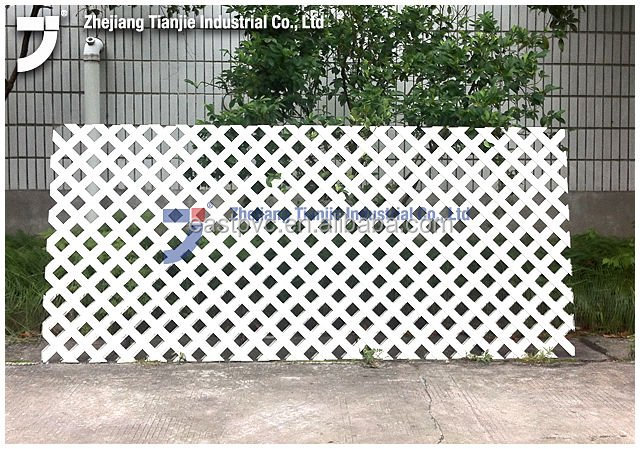 Blanc PVC treillis-Clôtures, treillis et portails-ID de ...