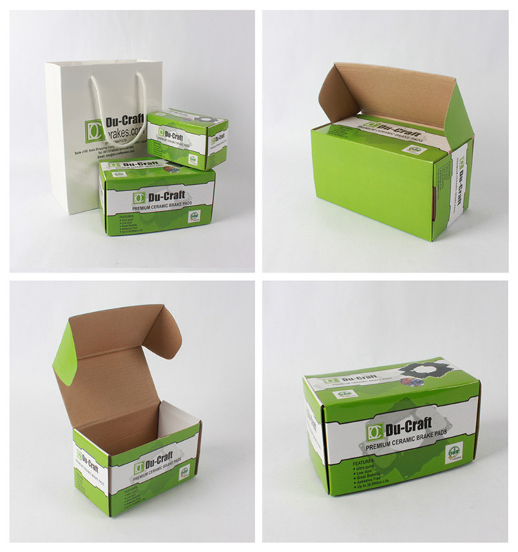 Automatic Folding Flat Shipping Custom Size Corrugated Box With Colorful Printing