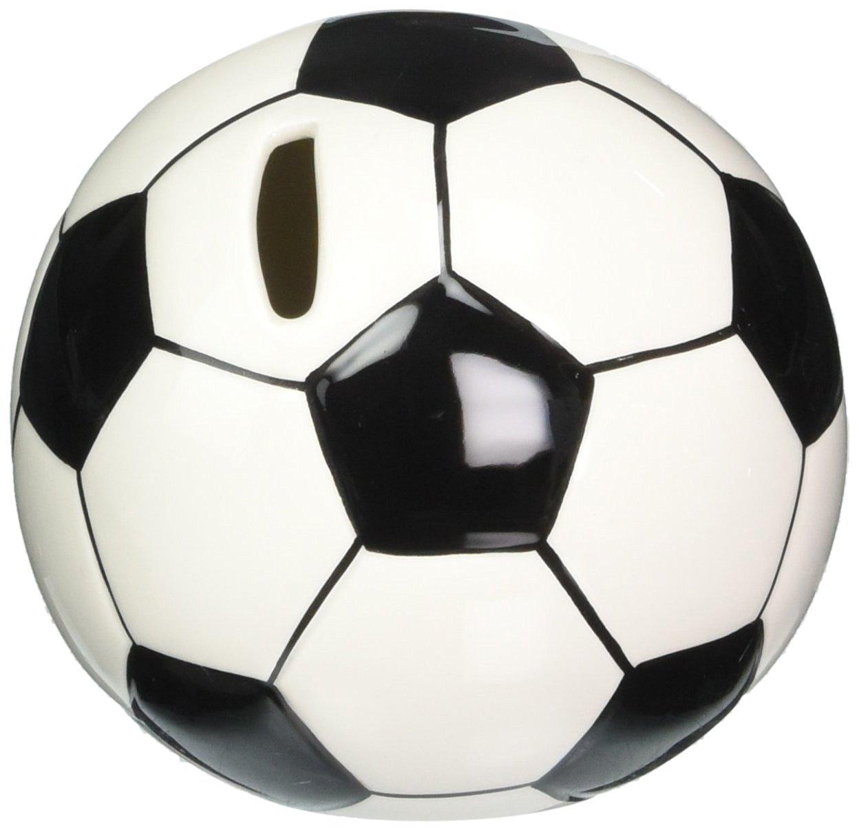 6a8fa4f6fca0 Get Quotations · Cosmos 10509 Fine Porcelain Soccer Piggy Bank