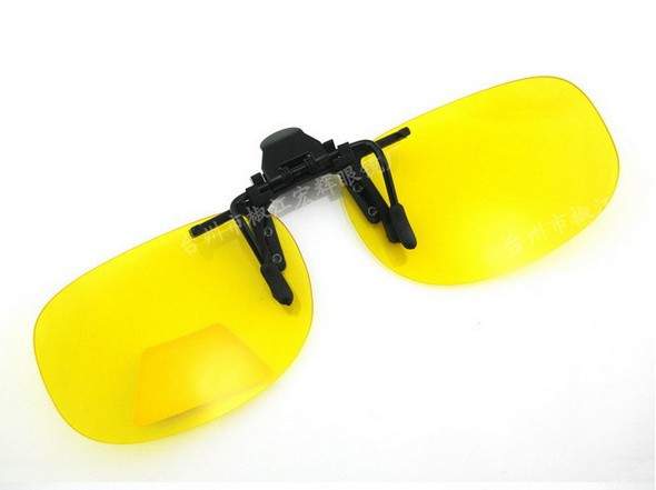 93ded13ed7 Get Quotations · Yellow grey polarized clip ons sunglasses