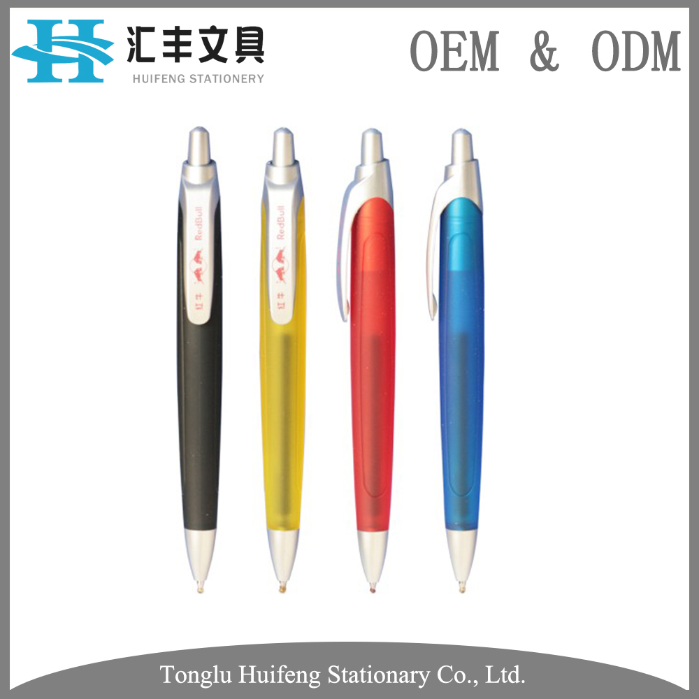 HF5207 new design transparent holder promotional big ballpoint pen