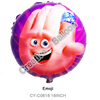 wholesale self inflating helium balloons 18inch round foil emoji balloons for party decoration