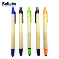 Reliabo Hot Sale Creative Eco-Friendly Recycled Pressing Plastic Paper Touch Ball Pen