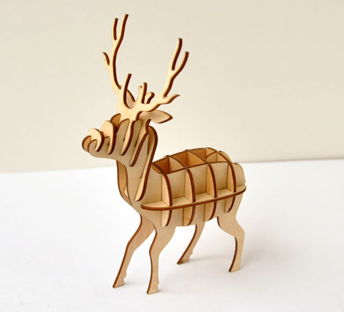 Wholesale custom diy home christmas decorative deer wooden deer <strong>crafts</strong>