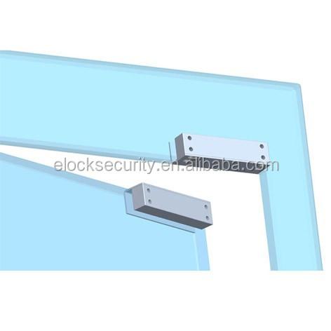 Elétrica gota trinco para porta de vidro sem moldura de alumínio
