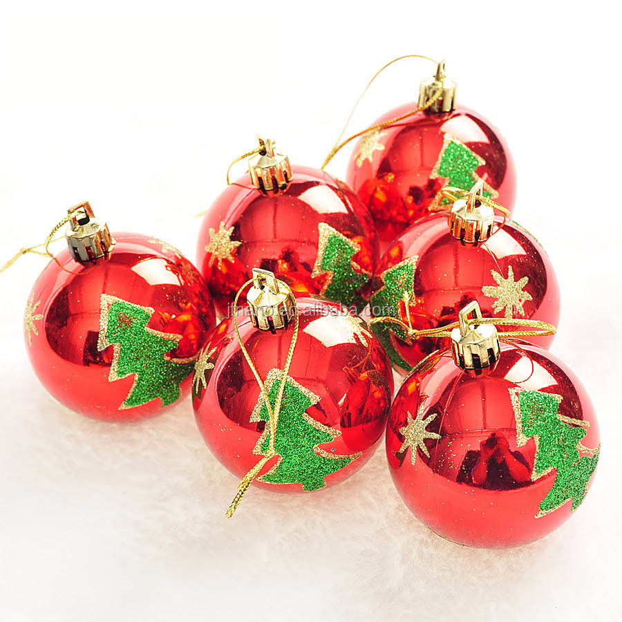 Bulk Christmas Ornaments Balls: Christmas Decoration Accessories Bright Red Christmas Ball