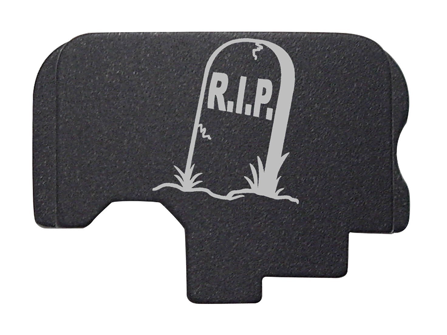 R.I.P. Tombstone Headstone Engraved Black Rear Slide Cover Plate For Kahr Arms .45 ACP Models: CT45 CW45 CM45 TP45 P45 PM45