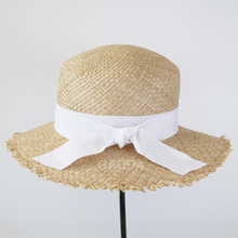 Natural Stylish Wide Brim Women Straw Hat /Natural Crochet Beach Hats For Girls