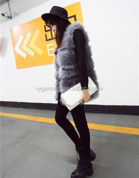 Fake Knitted Rabbit Fur Vest