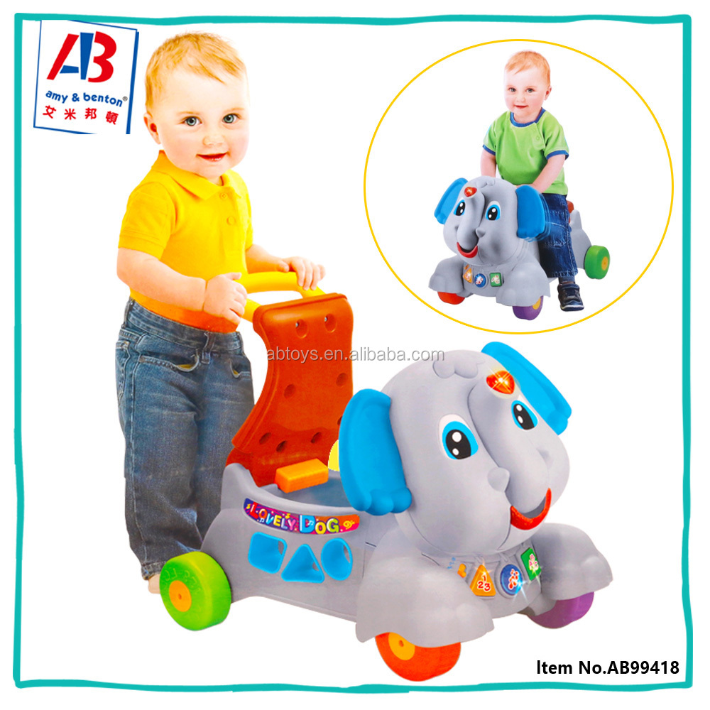 Newest Elephant shaped Hand Pushing Baby Ride on Car