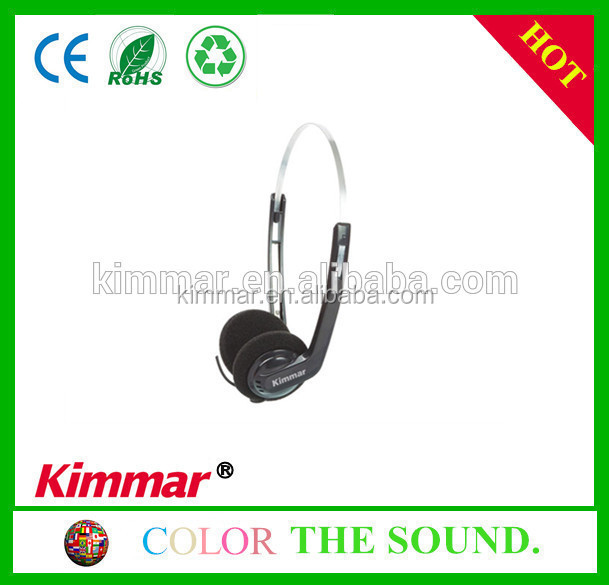 27mm dynamic speaker wired headphone mic for aviation