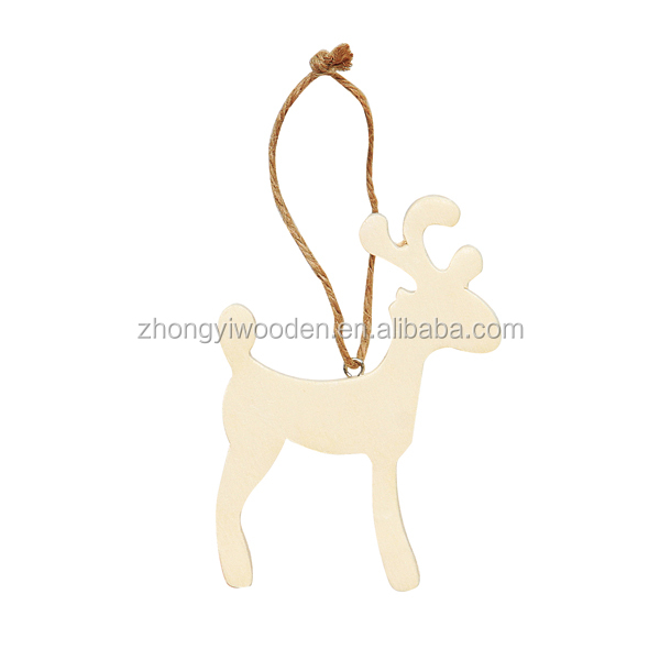 china factory FSC&SA8000 hanging drop wooden Christmas crafts for shopping gift