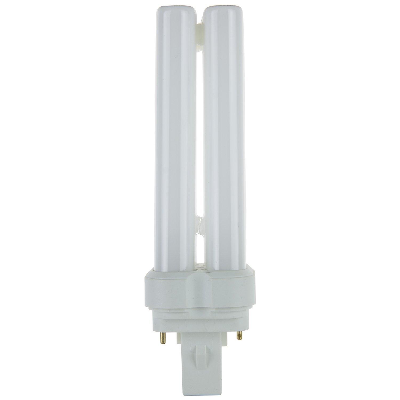 Sunlite 05755-SU FDL22/50K 22-watt FDL 2-Pin and 4-Pin Quad Tube Compact Fluorescent Plug-in GX32D-2 Base Light Bulb, Super White