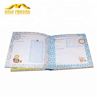Custom baby record books kids first year memory personalized diary notebook printing