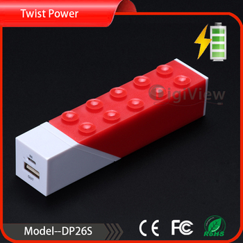 Twisted power bank 2600 mAh ,can put our Phone stand on the power bank,new design 2600 mAh power bank