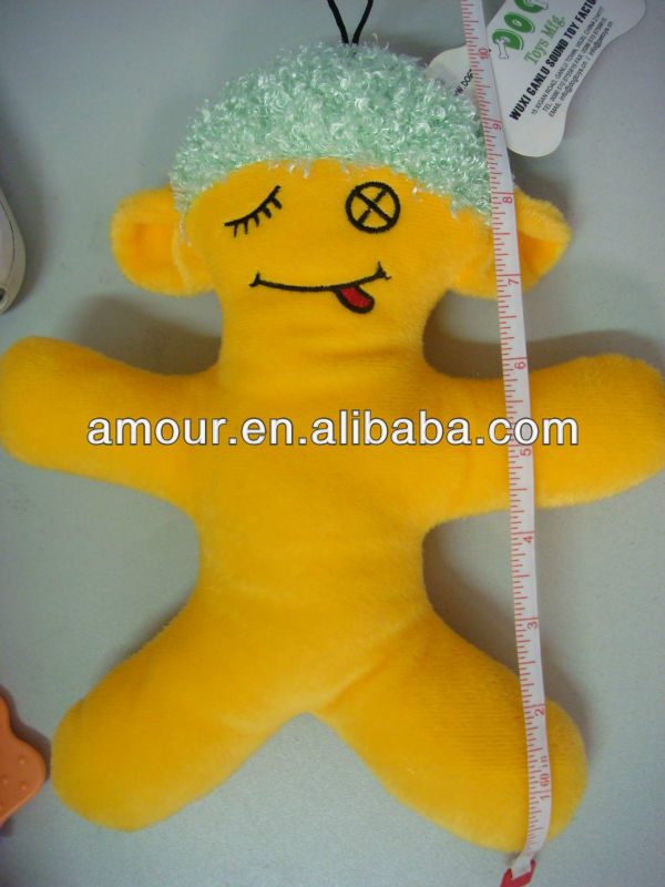 cute soft yellow doll stuffed cartoon puppet for kids new toys for christmas 2013 stuffed hanging toys