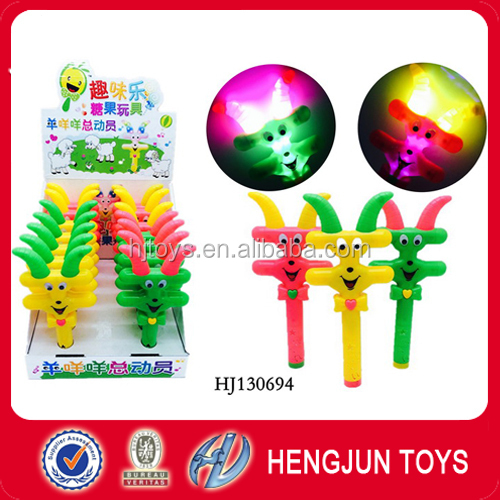 Factory direct small plastic lovely candy toy elephant bubble gun with light 10pcs