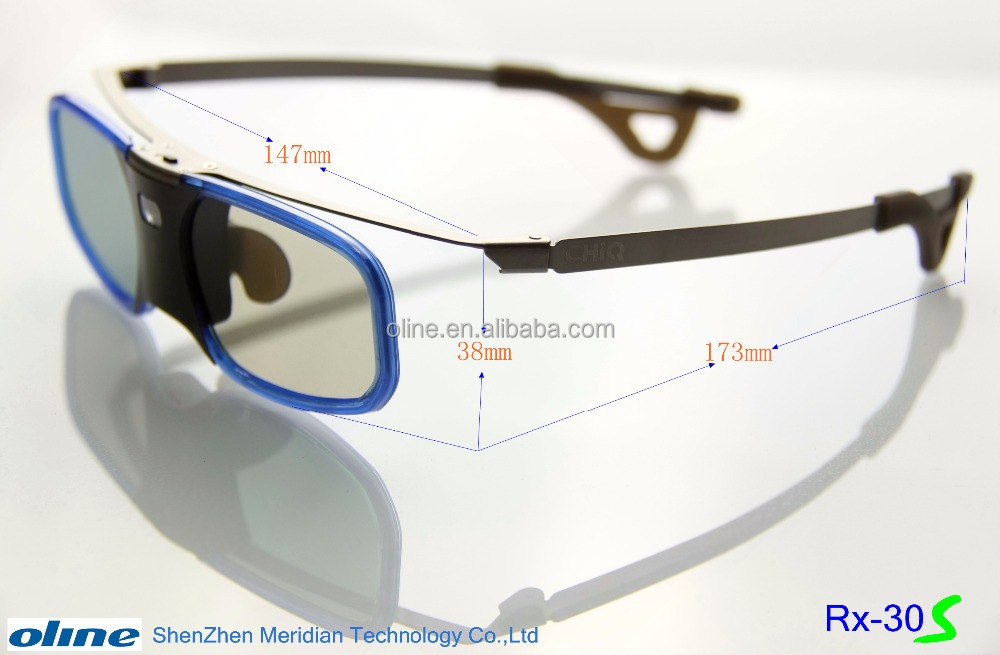 Rechargeable OLINE 3d active shutter glasses RX-30S with 96-144Hz dlp link eye wear