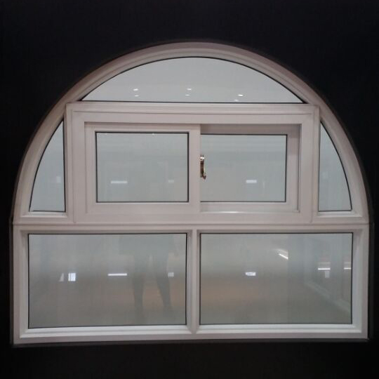 Hot selling design arched sliding window with grill design grills pvc windows and door