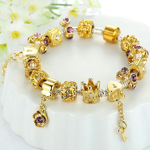 Pandora Jewelry For Sale: Pandora Bead Bracelet Gold Pandora Bracelet Sale