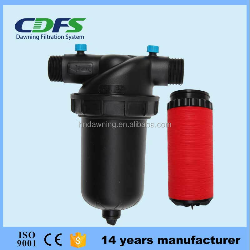 CDFS 1.5 inch T type 120 mesh plastic disc type filter for drip irrigation