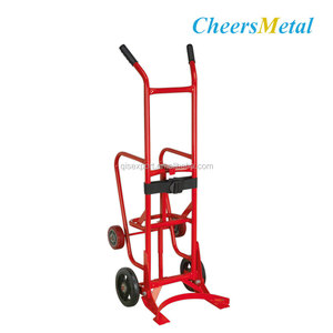 4 Wheels Metal Trolley Drum Dolly Cart