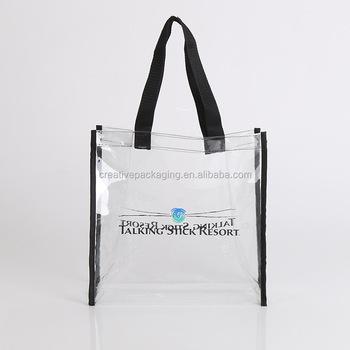 beb0344145c Custom printed clear pvc tote bag wholesale