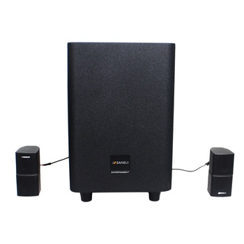 SANSUI Q3 2.1 home theater dj speaker box wireless home theater system with APP/USB/bluetooth