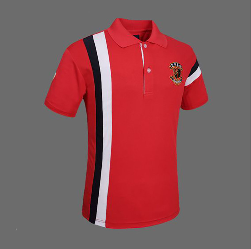 Short Sleeve Style Polo T-shirts 100% Cotton Material 200 Gram Pique Soft Hand Feel High Quality Men's Polo T Shirt