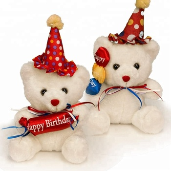 c8d21f64d26 Happy Birthday Teddy bear with candy and balloon with songs for kids Gifts