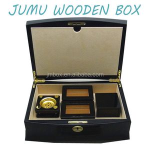 new design luxury hot sale wooden incense burner perfume gift set box