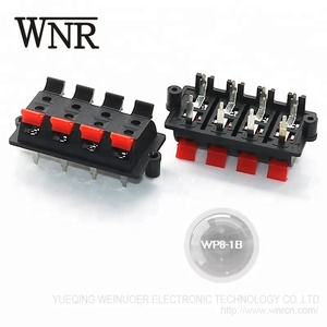 WP8-1B push wire terminal 8p speaker spring terminals