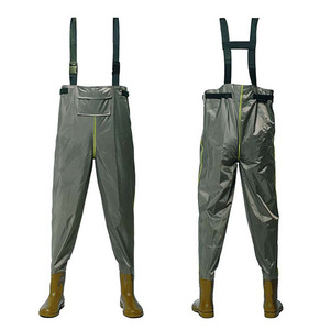 Customized PVC waterproof hip wader fishing chest wader