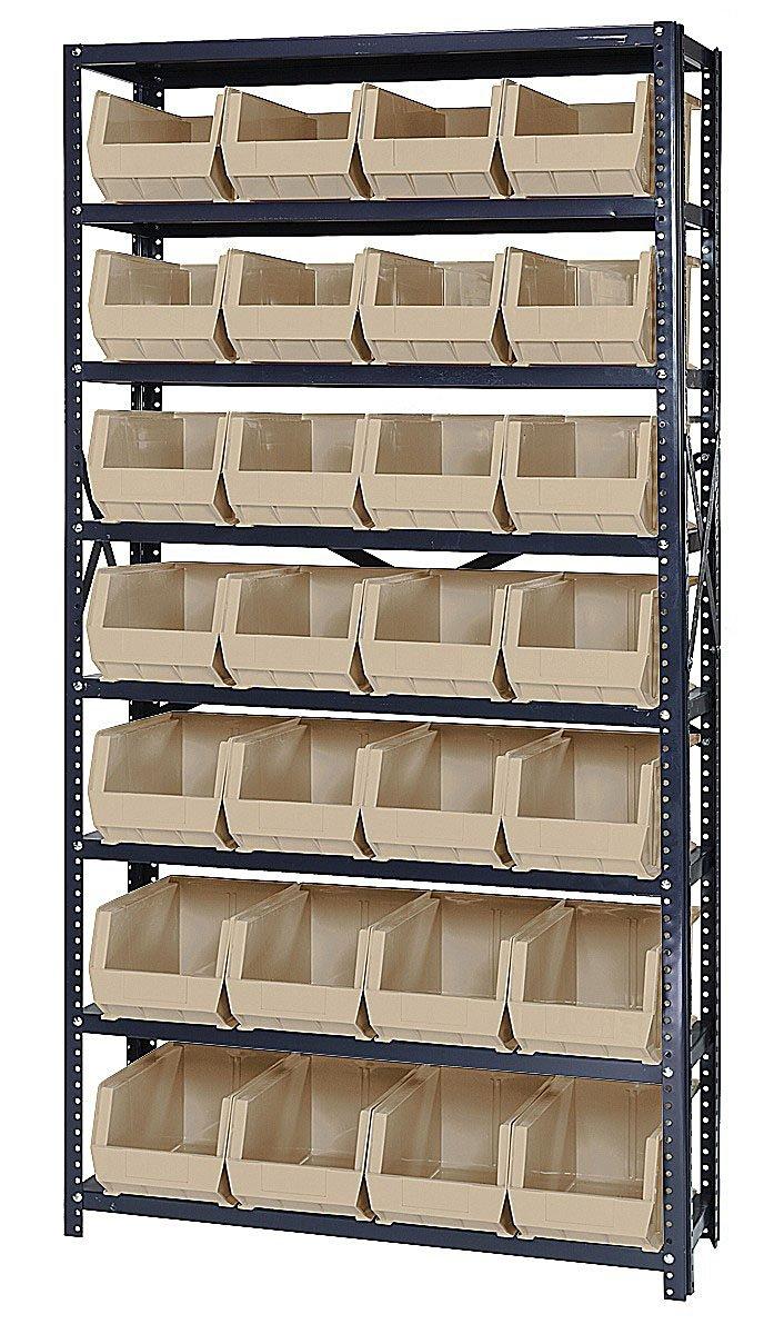 Quantum Storage Systems QSBU-240 Giant Open Hopper Storage Units with 28 Bins Ivory