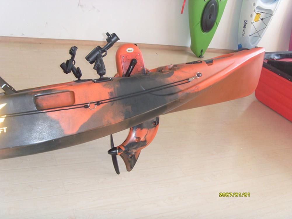 Single foot pedal kayak china kayak buy single person for Fishing kayak with foot pedals