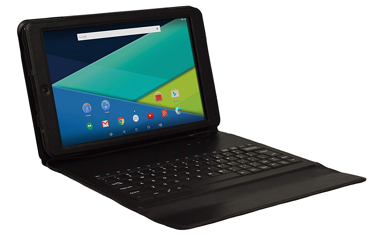 """Visual Land Prestige Elite 10QS - 10.1"""" QuadCore Lollipop 5.0 Android Tablet with Keyboard Case, 16GB, IPS 1280x800 HD Screen, WiFi, Bluetooth ( Black )"""