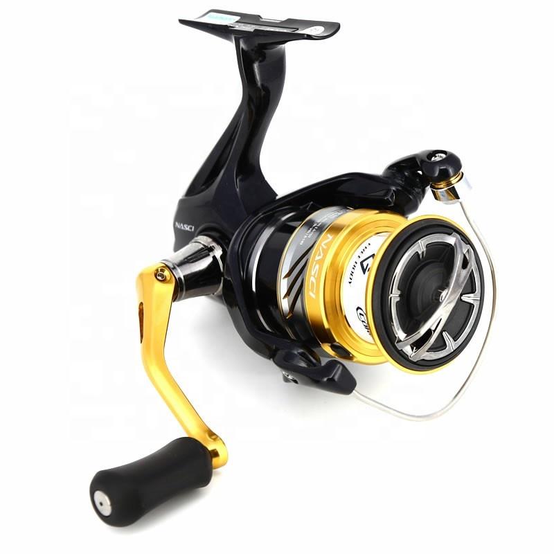 New MODEL Shimano NASCI 500 1000 2500 C3000HG 4000xg C5000xg 4+1BB gear ratio 5.0:1/6.2:1 Spinning Fishing Reel