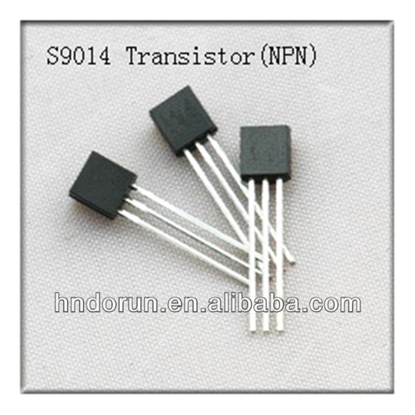 S9014 NPN 50V 100mA Plastic-Encapsulate Transistor TO-92 package