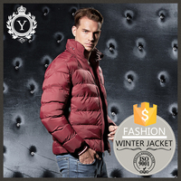 2016 COUTUDI new premium stylish winter slim fit men quilted puffer leather jacket men