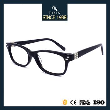 No Moq New Italy Design Rhinestones Eyeglass Frames Lady Retro