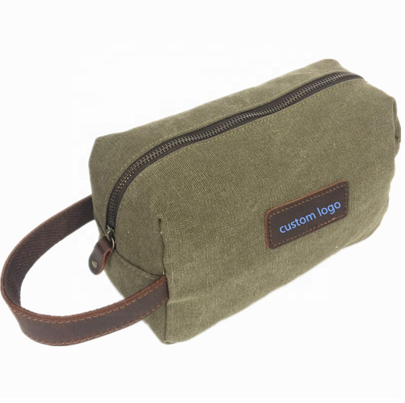 Hot Sales 8oz Canvas Personalized Women Toiletry Organized Bag Waterproof