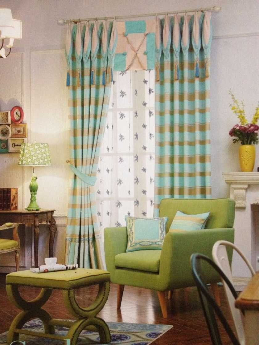 Atmosphere Fashion Bipartition Home Decor Use Curtain Drapes For Bay Windows