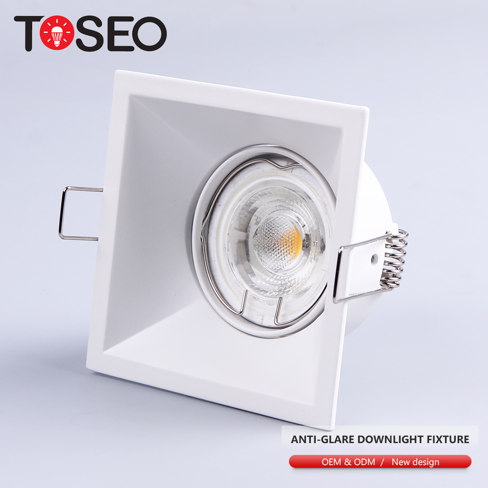 12v 230v square anti glare led light fixture <strong>gu10</strong> <strong>holder</strong> deep hole recessed downlight led spot light